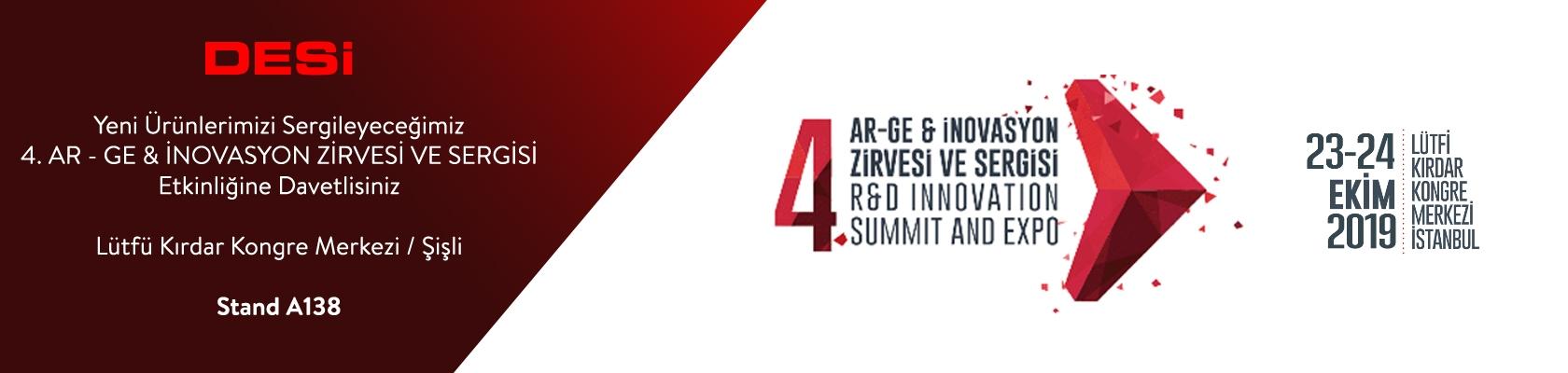 4. Ar - Ge & İnvovasyon Zirvesi ve Sergisi 2019